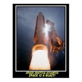 L'espace de l'Atlantide de navette spatiale est Cartes Postales