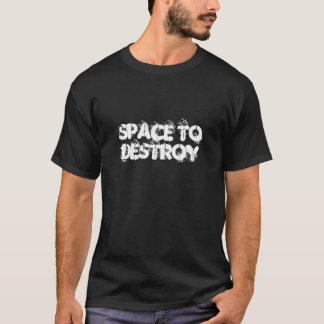 L'espace pour détruire le T-shirt