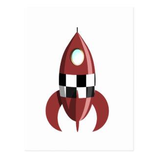 L'espace Rocket rouge Carte Postale
