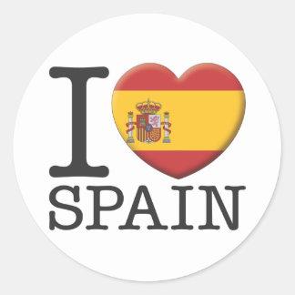 L'Espagne Sticker Rond