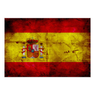 L'Espagne ; bandera de España Affiche