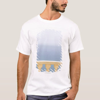 L'Espagne, Blanca de côte, vue de mer au-dessus de T-shirt