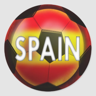 L'Espagne :  Équipe du football #1 Sticker Rond