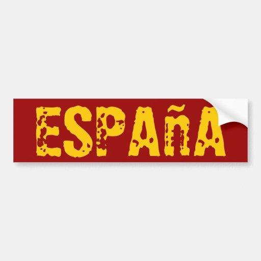 """L'Espagne """"España """" Adhésif Pour Voiture"""