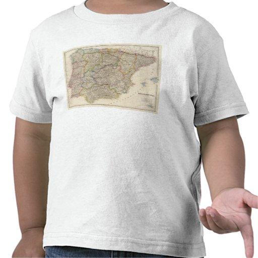L'Espagne et le Portugal 3 T-shirts