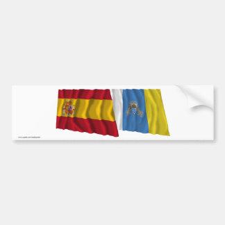 L'Espagne et les Îles Canaries ondulant des Autocollant De Voiture