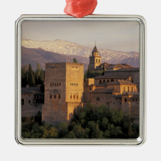 L'Espagne, Grenade, Andalousie Alhambra, Ornement Carré Argenté