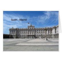 L'Espagne, Madrid Plaza de la Armería (St.K) Carte De Vœux