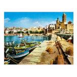 L'Espagne vintage, bord de mer de Sitges Cartes Postales