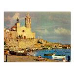 L'Espagne vintage, le Sitges, la cathédrale et le  Carte Postale