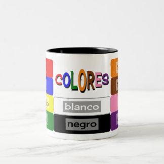 l'Espagnol colore la pratique en matière de Tasse 2 Couleurs
