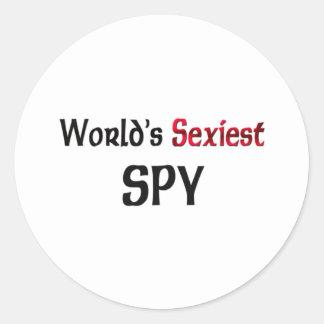 L'espion le plus sexy du monde sticker rond