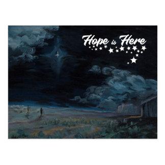 L'espoir est ici carte postale