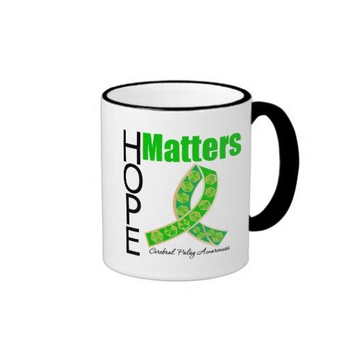L'espoir importe infirmité motrice cérébrale tasse à café
