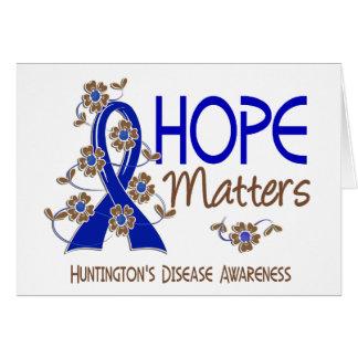 L'espoir importe la maladie de 3 Huntington Cartes