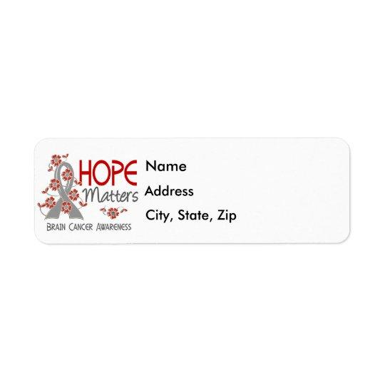 L'espoir importe le cancer du cerveau 3 étiquette d'adresse retour