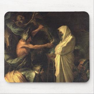 L'esprit de Samuel apparaissant à Saul au hous Tapis De Souris