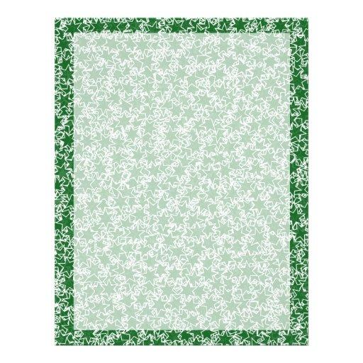L'esprit d'équipe vert et blanc d'étoile folâtre d prospectus en couleur