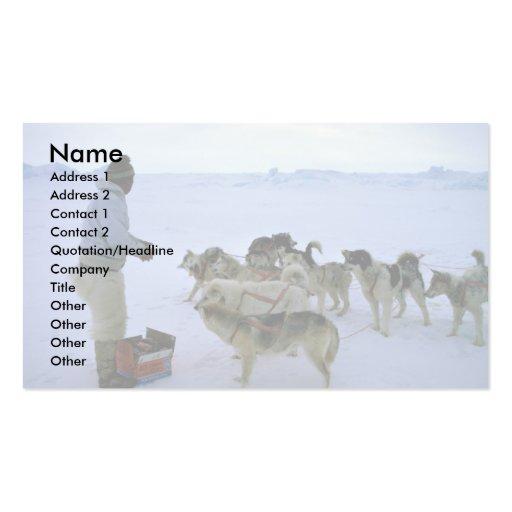 L'Esquimau polaire alimente des chiens Cartes De Visite Personnelles
