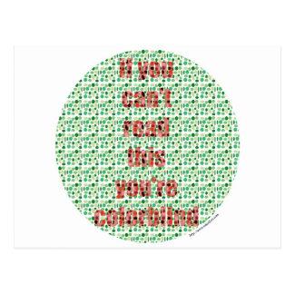 L'essai daltonien cartes postales
