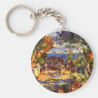 L'Estaque par Pierre Renoir, impressionisme Porte-clé Rond