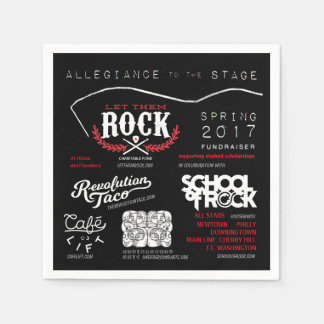 Let_Them_Rock_Allegiance_to_the_Stage_Napkins Serviette En Papier