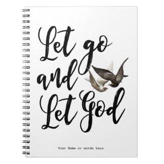 Let vont laisser le journal de carnet de Dieu