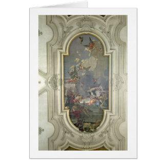 L'établissement du chapelet par St Dominic (fres Carte De Vœux