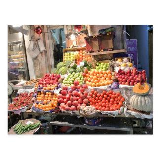 l'étal de fruit coloré cartes postales