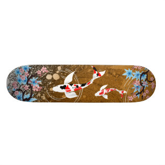 L'étang de Koi - bois - Japonais conçoivent la pla Skateboard