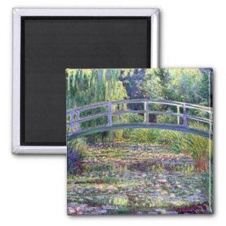 L'étang de nénuphar par Claude Monet Magnet Carré