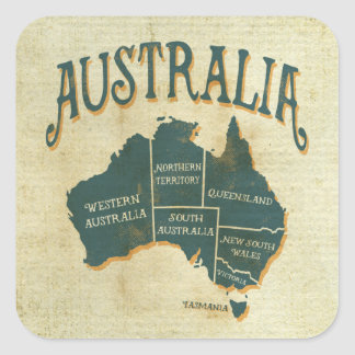 L'état australien appelle la carte sticker carré