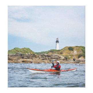 L'état de Washington des Etats-Unis. Kayaker de Toile Tendue