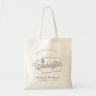 L'état de Washington Épousant le sac fourre-tout