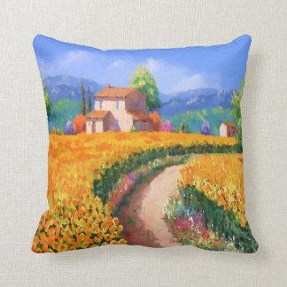 L'été coloré fleurit la La Provence France Coussin Décoratif
