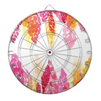 L'été fleurit - des mufliers floraux - rose, jeu de fléchettes