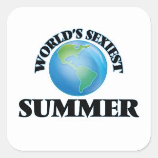 L'été le plus sexy du monde autocollant carré