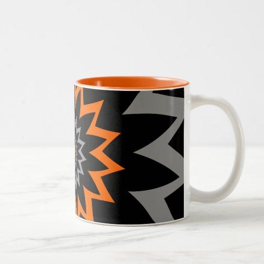 L'étendue de floraison :  Noir et orange Tasse 2 Couleurs