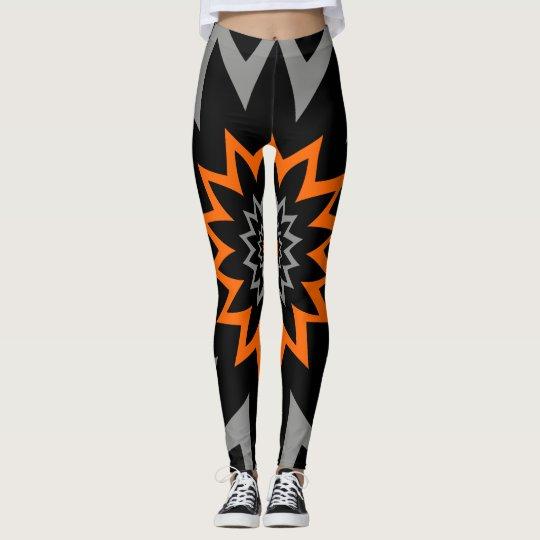 L'étendue : noir et orange leggings