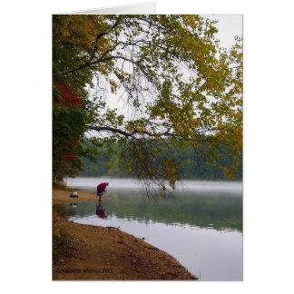 L'éternité demeure à l'étang de Walden Carte De Vœux