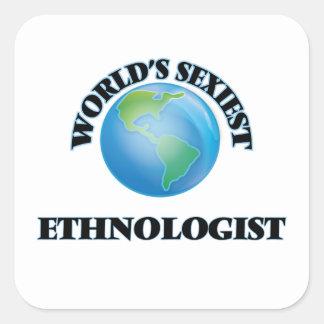 L'ethnologue le plus sexy du monde sticker carré