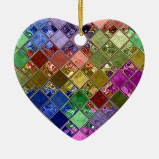 L'étincelle couvre de tuiles l'art de mosaïque ornement cœur en céramique
