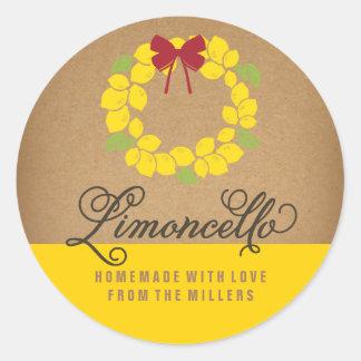 L'étiquette de Limoncello, 3 s'avancent petit à Sticker Rond