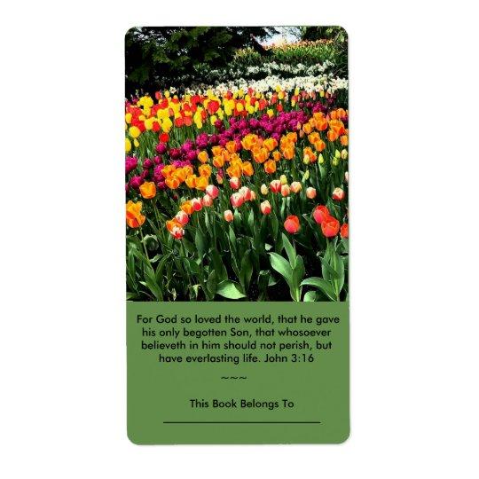 L'étiquette inspiré de tulipe peut être employé étiquette d'expédition