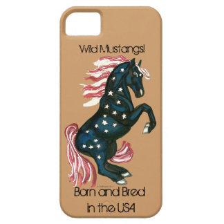 L'étoile a orné le cheval sauvage de mustang - étuis iPhone 5