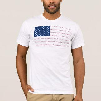 L'étoile a orné le drapeau de paillettes t-shirt