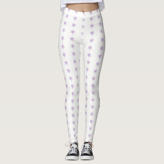 L'étoile barre le blanc leggings