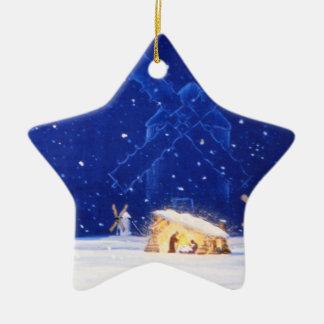 L'étoile de Bethlehem et de DON DON QUICHOTTE Ornement Étoile En Céramique