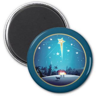 L'étoile de Bethlehem. Magnet de cadeau de Noël