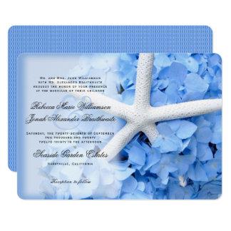 L'étoile de mer d'hortensia Parents des noms Carton D'invitation 12,7 Cm X 17,78 Cm
